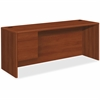 "HON HON 10700 Series Cognac Laminate Left-pedestal Credenza - 72"" x 24"" x 29.5"" - 2 x File Drawer(s), Box Drawer(s) - Single Pedestal - Waterfall Edge - Material: Wood - Finish: Cognac, Laminate"