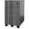 "Mayline Medina Gray Laminate BBF Mobile Pedestal - 18"" x 15.5"" x 26.8"" - 3 x Box Drawer(s), File Drawer(s) - Material: Steel - Finish: Gray, Laminate"