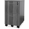 "Mayline Gray Laminate Mobile F/F Pedestal File - 18"" x 15.5"" x 26.8"" - 2 x File Drawer(s) - Material: Steel - Finish: Gray, Laminate"