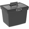 Storex Nesting Portable File Box - Media Size Supported: Letter - Latch Lock Closure - Black, Gray - For File Folder, Letter, Document, File, Box File - Recycled - 1 Each