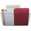 Storex Magnetic Wall File Pockets - 500 x Sheet - Cabinet, Wall Mountable - Smoke - Plastic - 1Each