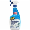Zep Commercial Quick Clean Disinfectant - Spray - 0.25 gal (32 fl oz) - Bottle - 12 / Carton - Yellow