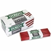 Dixon Economy Flat Carpenter Pencils - Medium Point - Red Lead - 1 Dozen