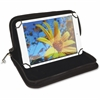 "Vaultz Carrying Case (Pouch) for Tablet, iPad mini - Black - 9"" Height x 11.8"" Width x 1.3"" Depth"