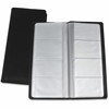 "Lorell Business Card Storage Holder - 0.8"" x 4.4"" x 9"" - Vinyl, Plastic - 1 Each - Black, Clear"