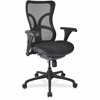 "Lorell High-back Fabric Seat Chairs - Plastic Black Frame - 5-star Base - Black - Fabric - 20.50"" Seat Width x 21.10"" Seat Depth - 47.6"" Width x 21.1"" Depth x 23.6"" Height"