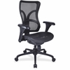 "Lorell Full Mesh High Back Adjustable Chair - Plastic Black Frame - 5-star Base - Black - 20.50"" Seat Width x 21.10"" Seat Depth - 28.6"" Width x 21.1"" Depth x 22.8"" Height"