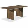"""Lorell Chateau Series Walnut 6' Rectangular Table - 70.9"""" x 35.4"""" x 30"""" Table, Table Top - Reeded Edge - Material: P2 Particleboard - Finish: Walnut Laminate"""