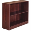 "Lorell Essentials Series Mahogany Laminate Bookcase - 36"" x 12"" x 30"", Shelf - 2 Shelve(s) - Square Edge - Material: Medium Density Fiberboard (MDF) - Finish: Mahogany, Thermofused Laminate (TFL)"