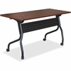 "Lorell Cherry Flip Top Training Table - Rectangle Top - Four Leg Base - 4 Legs - 48"" Table Top Width x 23.60"" Table Top Depth - 29.50"" Height x 47.25"" Width x 23.63"" Depth - Assembly Required - Mahoga"