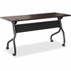 "Lorell Mahogany Flip Top Training Table - Rectangle Top - Four Leg Base - 4 Legs - 48"" Table Top Width x 23.60"" Table Top Depth - 29.50"" Height x 47.25"" Width x 23.63"" Depth - Assembly Required - Blac"