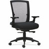"Lorell 3D Rotation Armrests Mid-back Chair - Fabric Seat - 5-star Base - Black - 20.88"" Seat Width x 18.50"" Seat Depth - 27.8"" Width x 29.4"" Depth x 43.8"" Height"