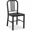 "Lorell Metal Chair - Metal Frame - Black - 16"" Width x 18"" Depth x 32"" Height"