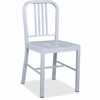 "Lorell Metal Chair - Metal Frame - Silver - 16"" Width x 18"" Depth x 32"" Height"