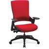 "Lorell Serenity Series Executive Multifunction High-back Chair - Fabric Red Seat - Fabric Red Back - 25.3"" Width x 23.5"" Depth x 40.5"" Height"
