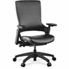 "Lorell Serenity Series Executive Multifunction High-back Chair - Leather Seat - Black - Leather - 25.3"" Width x 23.3"" Depth x 40.5"" Height"