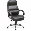 "Lorell Leather High-back Chair - Bonded Leather Seat - Bonded Leather Back - Black - 25.5"" Width x 28"" Depth x 45.3"" Height"