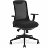 "Lorell Mesh Back Multifunction Chair - Fabric Seat - 5-star Base - Black - 19.75"" Seat Width x 18"" Seat Depth - 27.3"" Width x 26"" Depth x 42.8"" Height"