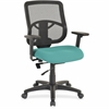 "Lorell Managerial Mid-back Chair - Fabric Seat - Black Back - 5-star Base - Green - 25.3"" Width x 23.5"" Depth x 40.5"" Height"