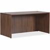 "Lorell Essentials Series Walnut Desk Shell - Top, 70.9"" x 35.4"" x 29.5"" Desk - Material: Polyvinyl Chloride (PVC) Edge - Finish: Walnut Laminate"