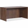 "Lorell Walnut Laminate Office Suite Desking - Top, 66.1"" x 29.5"" x 29.5"" Desk - Material: Polyvinyl Chloride (PVC) Edge - Finish: Walnut Laminate"