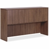 "Lorell Essentials Series Walnut 4-Door Hutch - 66.1"" x 14.8"" x 36"" Hutch - Drawer(s)4 Door(s) - Material: Wood, Polyvinyl Chloride (PVC) Edge - Finish: Laminate, Walnut"