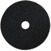 "Genuine Joe Black Floor Stripping Pad - 14"" Diameter - 5/Carton - Resin, Fiber - Black"