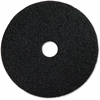 "Genuine Joe Black Floor Stripping Pad - 16"" Diameter - 5/Carton - Resin, Fiber - Black"