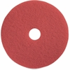 "Genuine Joe Red Buffing Floor Pad - 15"" Diameter - 5/Carton - Fiber - Red"