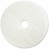 "Genuine Joe Polishing Floor Pad - 16"" Diameter - 5/Carton - Resin, Fiber - White"