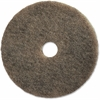 "Genuine Joe Ultra-high Speed Floor Cleaner Pad - 20"" Diameter - 5/Carton - Resin, Fiber - Natural"