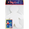 "Hygloss Big Cuts Person Shapes - 25 Piece(s) - 16"" - 1 Pack - White - Paper"