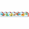 "Carson-Dellosa Boho Birds Scalloped Borders - Learning Theme/Subject - 13 Scalloped Border, Birds - 2.25"" Height x 36"" Width - Multicolor - 13 / Pack"