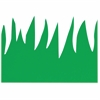 "Hygloss Green Grass Design Border Strips - 12 Grass - Long Lasting, Durable, Damage Resistant - 3"" Height x 36"" Width - Green - 12 / Pack"