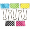 """Teacher Created Resources Moroccan Pattern Large Binder Clip - Large - 1"""" Length x 2"""" Width - for Classroom, Office - Write-on, Wipe-off - 5 Pack - Multi - Metal"""