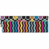 "Carson-Dellosa Colorful Chalkboard Straight Borders - Learning Theme/Subject - 12 Strips of Border - Colorful Chalkboard - 36"" Height x 3"" Width - Multicolor - 12 / Pack"
