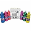 Prang Power Glitter Paint Set - 16 fl oz - 6 / Set - Glitter Red, Glitter Blue, Glitter Pink, Glitter Purple, Glitter Yellow, Glitter Green