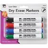 CLI Chisel Tip Dry Erase Markers - Chisel Point Style - Black, Blue, Red, Green - 4 / Each