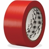 3M General-purpose 764 Color Vinyl Tape - 36 yd Length - Rubber - 4 mil - Polyvinyl Chloride (PVC) Backing - Flexible, Removable, Residue-free - 1 Roll - Red