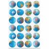 Hygloss Globes Stickers - Learning Theme/Subject - 72 Globe - Self-adhesive - Assorted - 1 Pack