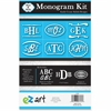 U.S. Stamp & Sign Peel n Stick Monogram Kit - 1 Pack - White