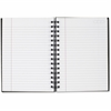 """Mead Cambridge Poly Pocket Hardbound Business Notebook - 96 Sheets - 192 Pages - Printed - Twin Wirebound - Legal Ruled - 20 lb Basis Weight 6.25"""" x 8"""" - Black Cover - Linen Cover - 1Each"""