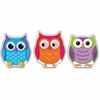 Carson-Dellosa Colorful Owls Cut-Outs - 36 Owl - Sturdy - Multicolor - Card Stock - 36 / Pack