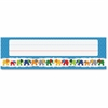 "Carson-Dellosa Parade of Elephants Nameplates - 36 Rectangle - Parade of Elephant - 2.88"" Height x 9.50"" Width - Multicolor - 36 / Pack"