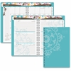 At-A-Glance Suzani Desk Wkly/Mthly Planner - Academic - Julian - Weekly, Monthly, Daily - 1 Year - 8:00 AM to 5:00 PM - 1 Month Single Page Layout 1 Week Double Page Layout - Assorted - Tabbed, Refere