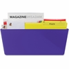 Storex Wall Pocket - Wall Mountable - Purple - 1Each