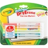 Crayola Fine Line Washable Dry Erase Markers - Bullet Point Style - Assorted - 6 / Pack