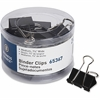 Business Source Medium 24-count Binder Clips - Medium - for Paper, Project, Document - 24 Pack - Black - Steel, Zinc