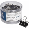 Business Source Small/Medium Binder Clips Set - Small, Medium - for Paper, Project, Document - 60 Pack - Black - Steel, Zinc