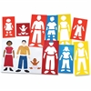 "Roylco Fabulous Family Portrait Stencils - Family - 10.5"" x 4.8"" - Assorted"
